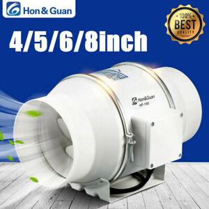 Hon/&Guan 3-5inch 25-128CFM Inline Duct Fan Extractor Exhaust Ventilator Blower