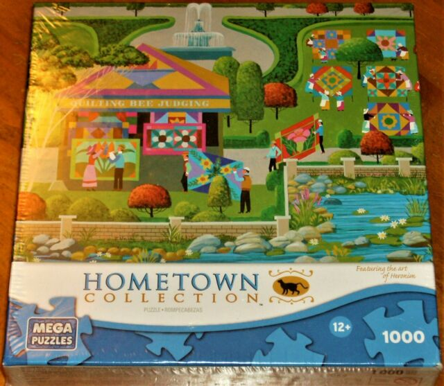 Hometown Collection Quilting Bee 1000pc New Sealed