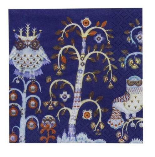 Iittala Taika Servietten Blau 33cm