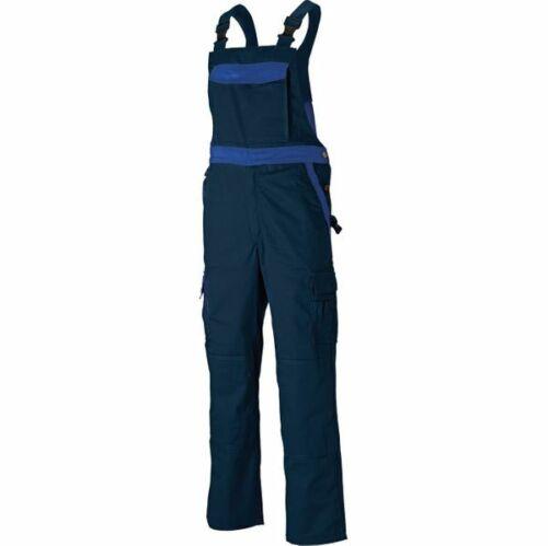 RRP £ 55 Dickies Homme Industry Deux Tons Bib /& Brace Marine Work Dungarees IN30040