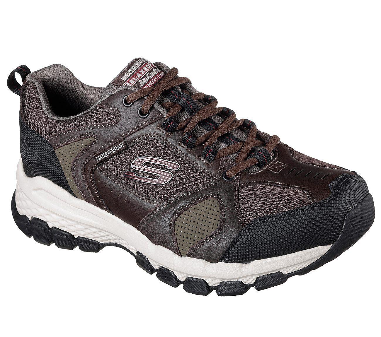 51586 EWW Brown Extra Wide Fit Skechers shoes Men Memory Foam Sport Trail Hiking