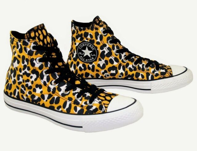 b5cb063afa15 Womens Boys CONVERSE All Star ANIMAL LEOPARD High Top Trainers Boots UK  SIZE 3.5