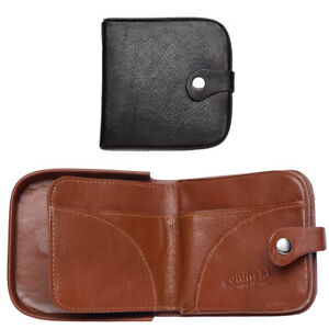 Mens-Gents-Cuir-Veritable-Souple-Changement-Coin-Holder-Wallet-Purse-Black-Tan