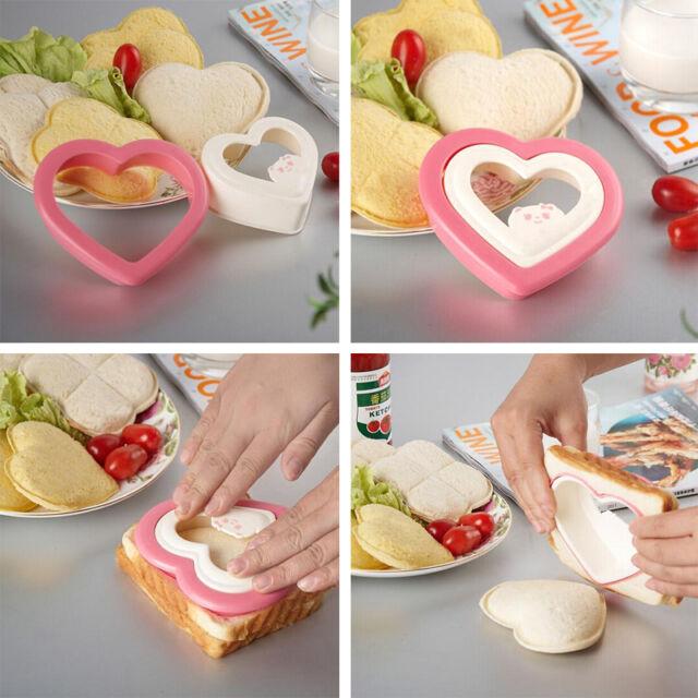 Bread Toast Heart Mold Bento Breakfast Maker Sandwich Cutter Decorating Tool
