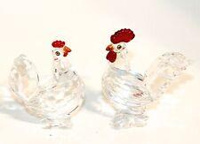 Swarovski Original Figur Hahn & Henne mit roten Kamm