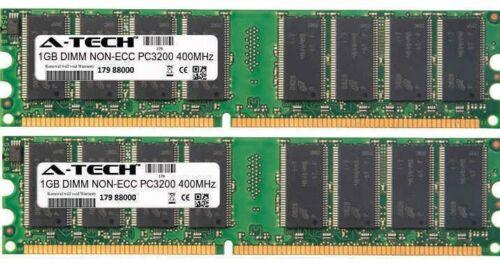 A-Tech 2GB 2 x 1GB PC3200 DDR 400 MHz Desktop DDR1 DIMM 184-Pin Memory RAM 2G 1G