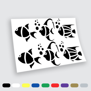 Adesivi Murali Adesivo in vinile Pesci fish Wall Stickers da parete pc auto