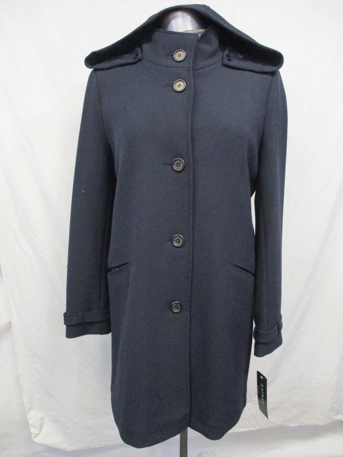 Ralph Lauren Women's Size 8 Size 10 Navy Polyester Trench Coat RETAIL