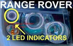 RANGE ROVER SPORT 2 X 60MM INDICATOR SMD RINGS ANGEL EYE CONVERSION RINGS