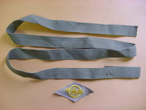 USA WWII HELMET CHINSTRAP WEBBING AND RUPTURED DUCK A-235