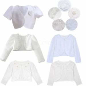 Kids-Flower-Girl-Dress-Cover-Bolero-Shrug-Jacket-Wedding-Cardigan-Formal-Party