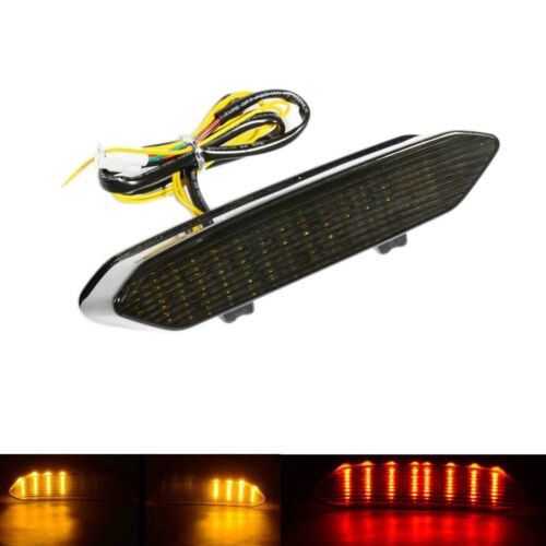 Smoke Integrated LED Turn Signal Light Taillight for Yamaha YZF R1 2002 2003 AS