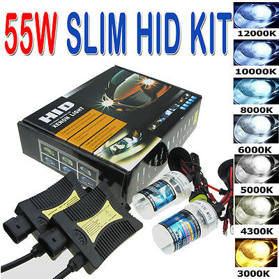 55W HID Xenon Headlight Conversion KIT H1/H3/H4/H7/H11/9005/9006/880/881/9004/7