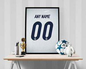 Real Madrid Jersey Poster - Personalized Name & Number FREE US SHIPPING