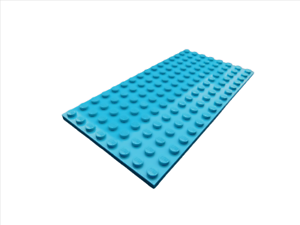 medium azure Neu Platten Lego 2 Stück Platte in mittel azurblau 8x16 92438