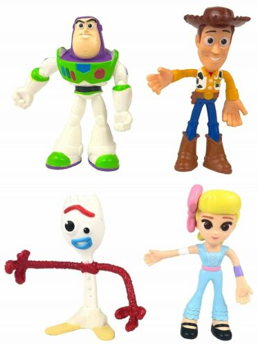 Toy Story 4 Figure Pack Set Flextreme Bendable Figures Forky Bo Peep Woody Buzz