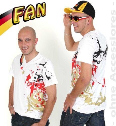 karnevaslTeufel WM-Shirt Fussball Fan Deutschland schwarz-rot-gold 12110013