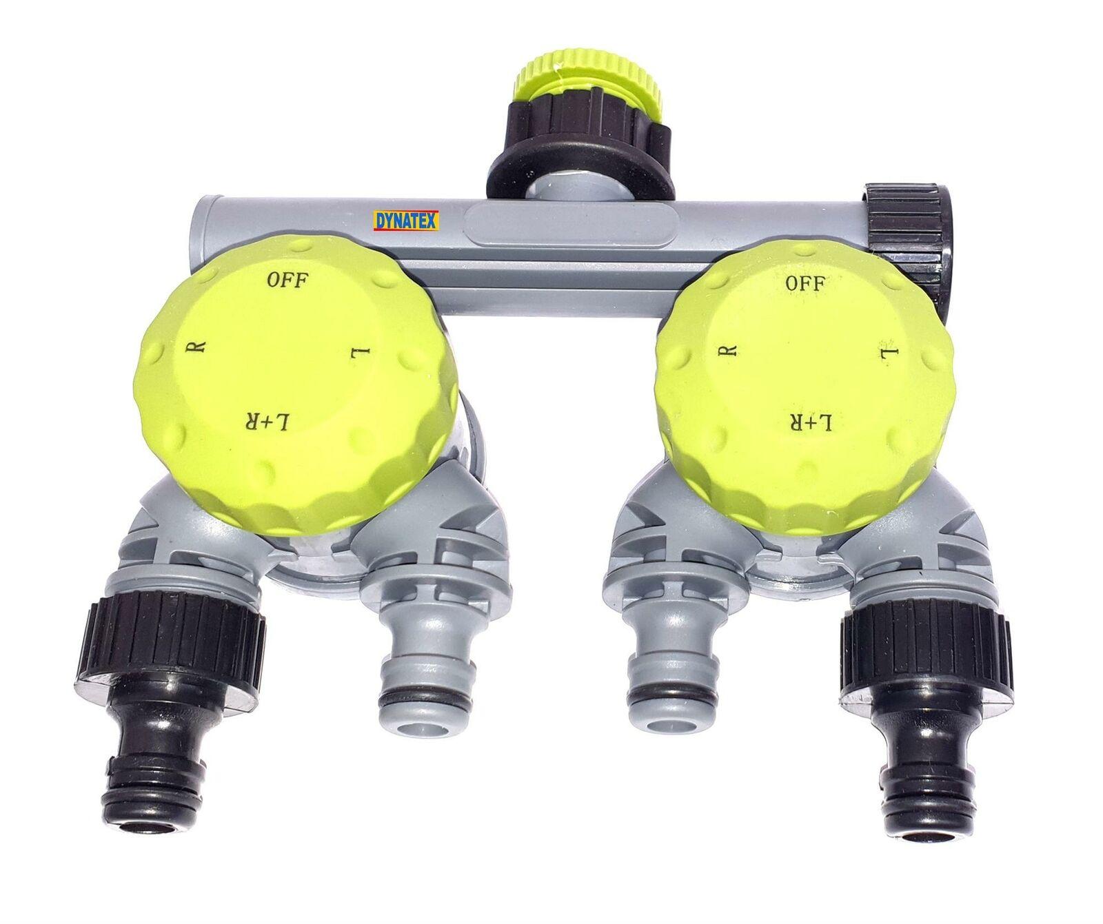 4 Way Tap Connector Garden Manifold Hose Pipe Splitter Adapter Water Faucet 1/2