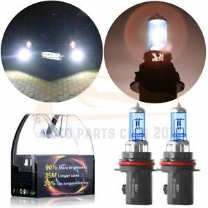 2Pcs 9007-HB5 5900K Super White Xenon HID Halogen Headlight Bulb 80//100W 12V
