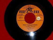 DELL VIKINGS~WHAT MADE MAGGIE RUN~RARE ~UH UH BABY~FEE BEE ~ DOO WOP 45