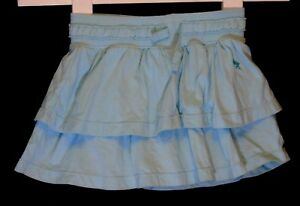 Baby Girls H&M Aqua Green Jersey RaRa Skirt Skorts Shorts Age 12-18 Months