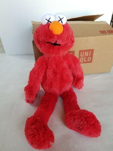 NEW Uniqlo KAWS Sesame Street ELMO Plush Doll ToyAuthentic