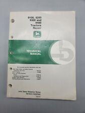 John Deere 9100 9200 9300 9400 Tractor Technical Repair Manual Tm1623 Oem 1996