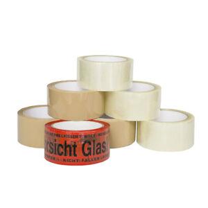 0-02-m-6-Rollen-Klebeband-50m-Packband-Paketband-1-Rolle-034-Vorsicht-Glas-034