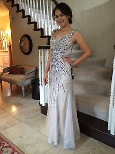 31ca42dfa0  550 NWT NUDE ALYCE PARIS PROM PAGEANT FORMAL DRESS GOWN  6350 SIZE ...