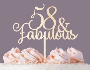 Pleasant Fabulous Custom Personalized Birthday Cake Topper Cut Out Of Wood Funny Birthday Cards Online Alyptdamsfinfo