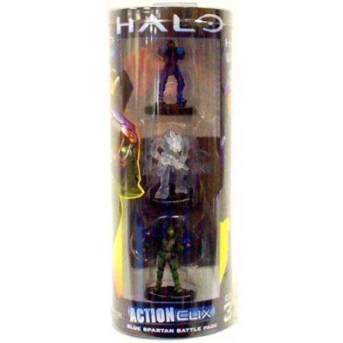Halo – acción Clix-Azul Spartan Battle Pack-Video Juego 3 Pack Figura Set