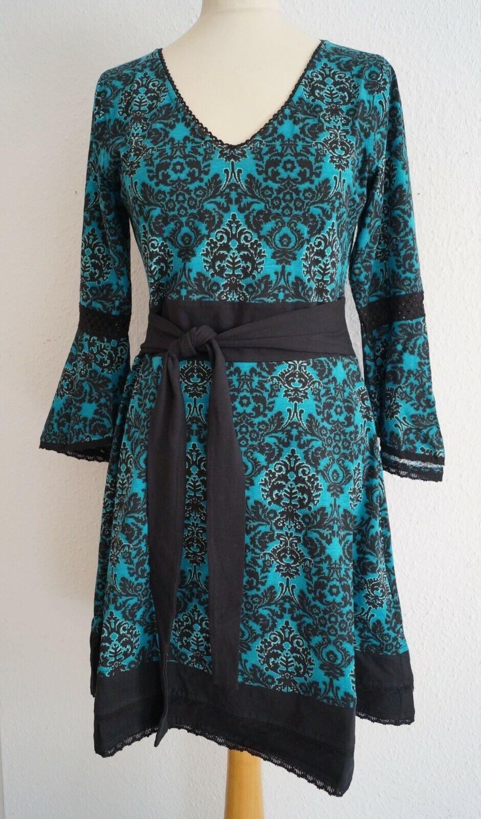 Chapati sigle Jersey Robe Fairtrade Bleu g-8115 S-XXL