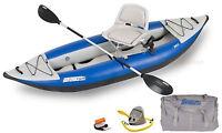 Sea Eagle 300x Explorer Kayak Fish Rig Fishing Package Class 4 Rapids Self Bail