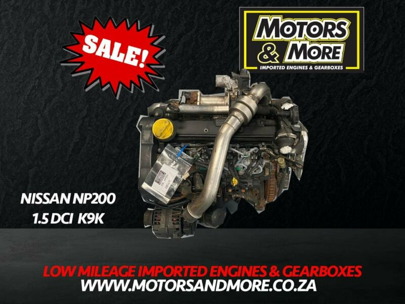 Nissan NP200 1.5 DCI K9K Engine now available at Motors & More Gqeberha - PE