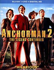 ANCHORMAN 2 new release BLU RAY & DVD Combo  (3 disc) WILL FERRELL Steve Carell