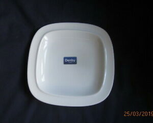 DENBY-WHITE-SQUARES-SIDE-OR-TEA-PLATE-19CM-NEW-FIRST-QUALITY-WITH-LABELS