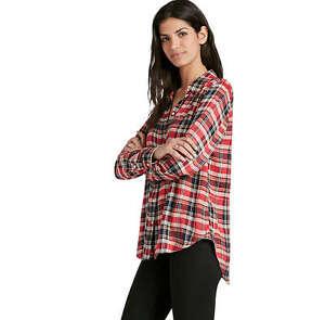 Femmes Flanelle À Rouge Avec Lucky Brand Xs Étiquettes Neuf Carreaux Bxgf5Az