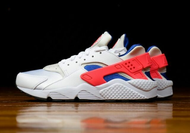 25b0424c411 Nike Air Huarache Run White Ultramarine Solar Red Black 318429-112 (NO BOX  LID