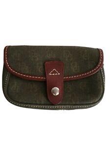 Dooney-amp-Bourke-Women-s-Green-Leather-Coin-Case-Change-Purse-Snap