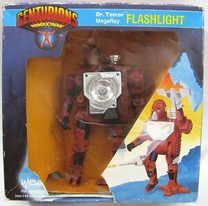 Vtg Centurions Dr Figurine d'action de lampe de poche Terror Kenner 1986 Megaray Impulse