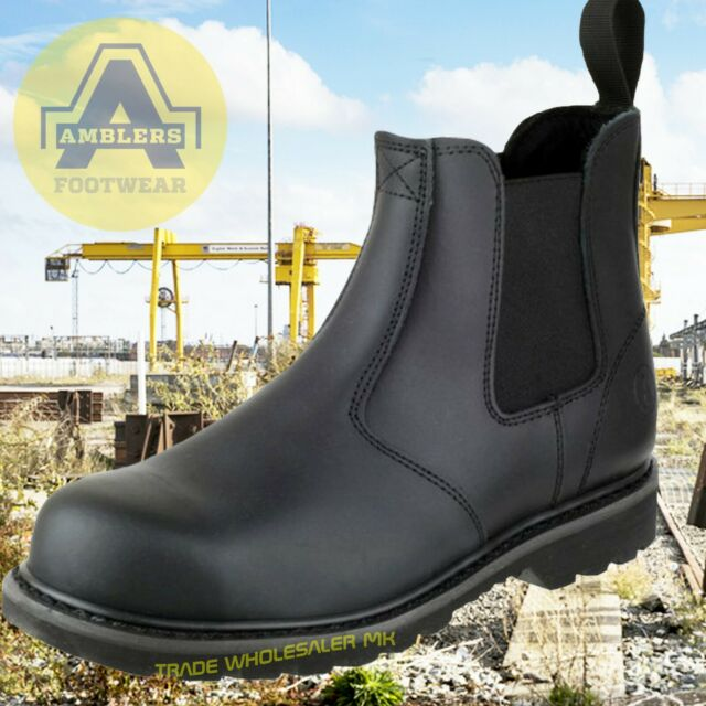 Black Leather Amblers Sizes 7 to 13 Mens Waterproof Safety Work Boots
