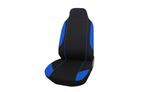 VW TRANSPORTER  T5 2+1 BLUE BLACK SINGLE+DOUBLE SOFT FABRIC SEAT COVERS