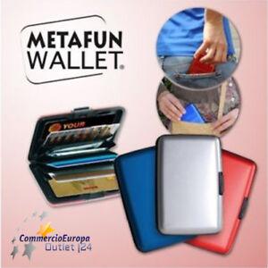 04cfc93b78f017 Caricamento dell'immagine in corso PORTAFOGLIO-ALLUMINIO-metafun-wallet- PORTA-CARTE-DI-CREDITO-