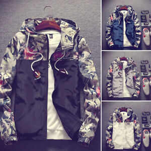 Men's Jacket Casual Thin Hooded Jacket Wind Breaker Spring Hoodies Men Outdoor