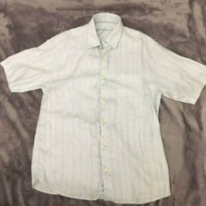 Tommy Bahama Men's Linen button down short sleeve shirt size Small