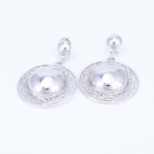 Big Exaggerated Pendant Necklace Earrings Bridal Wedding Accessories Jewelry Set