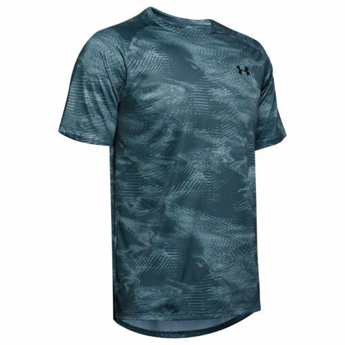 Mens Under Armour Tech Print T Shirt Short Sleeve Performance New
