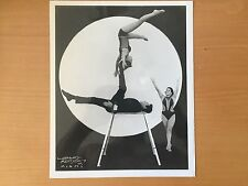 RARE VINTAGE CIRCUS PERFORMERS: Three Acrobats by Grand Mendoza of Miami Photo