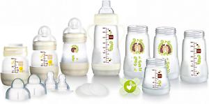 Blanc Designs peut varier MAM Anti-Colique Auto-de stérilisation Bottle Starter Set