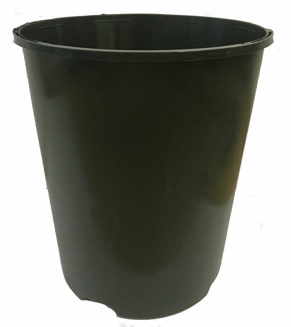 10 x Deep Rose Pots 3 Litre L Lt Plant Flower Pot Tall Plastic Black Strong